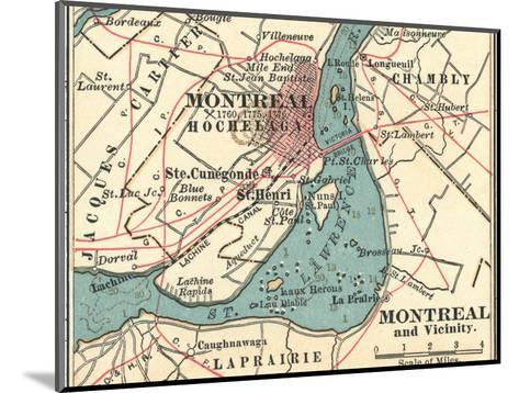 Map of Montreal (C. 1900), Maps-Encyclopaedia Britannica-Mounted Giclee Print