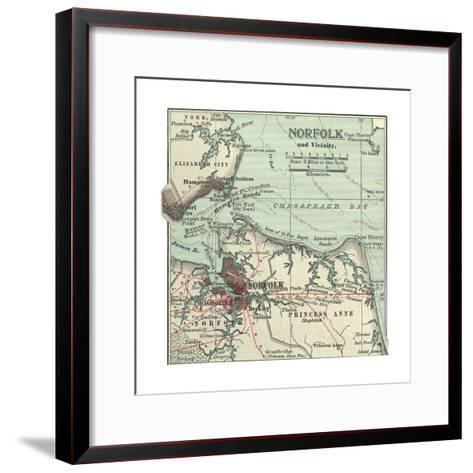 Map of Norfolk-Encyclopaedia Britannica-Framed Art Print