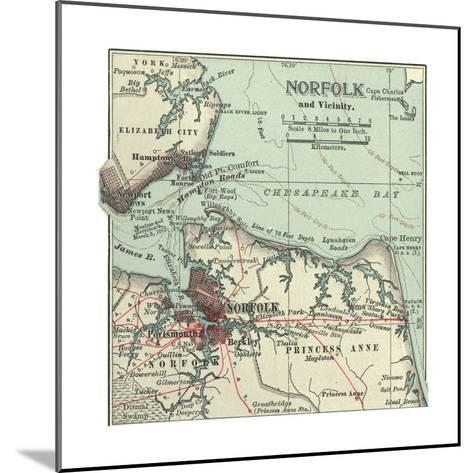 Map of Norfolk-Encyclopaedia Britannica-Mounted Giclee Print