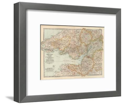 Plate 11. Map of England and Wales-Encyclopaedia Britannica-Framed Art Print