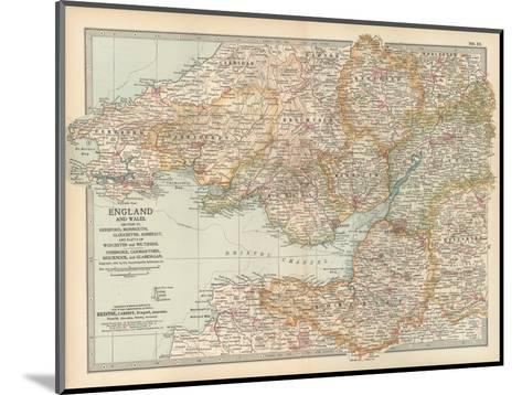 Plate 11. Map of England and Wales-Encyclopaedia Britannica-Mounted Giclee Print