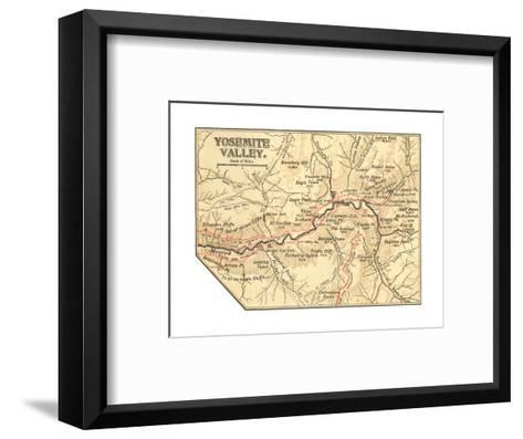 Map of Yosemite Valley (C. 1900), Maps-Encyclopaedia Britannica-Framed Art Print