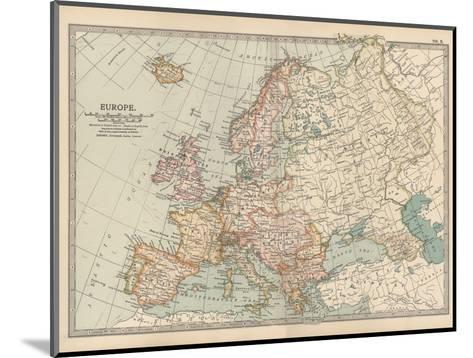 Plate 2. Map of Europe-Encyclopaedia Britannica-Mounted Giclee Print