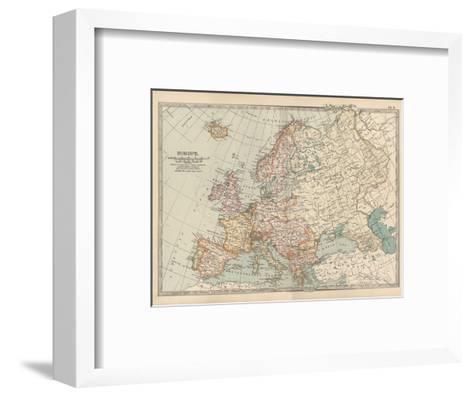 Plate 2. Map of Europe-Encyclopaedia Britannica-Framed Art Print