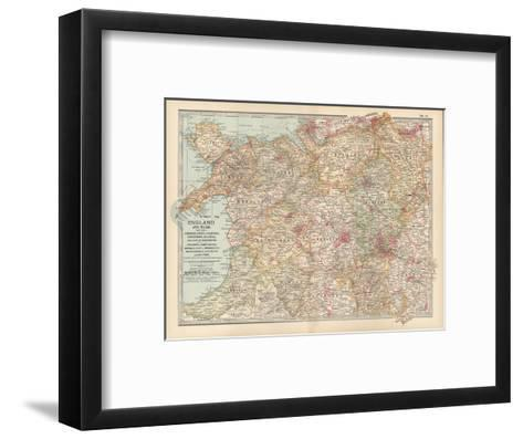 Plate 12. Map of England and Wales-Encyclopaedia Britannica-Framed Art Print