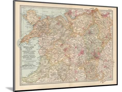 Plate 12. Map of England and Wales-Encyclopaedia Britannica-Mounted Giclee Print