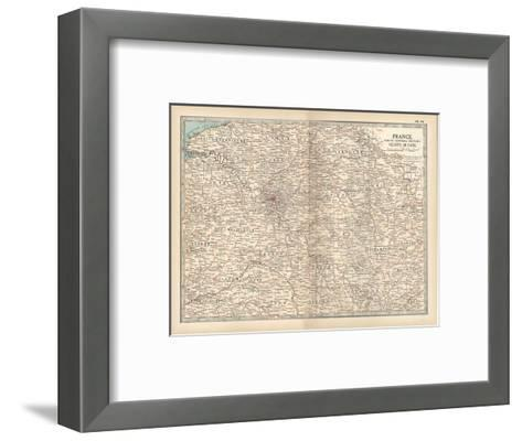 Plate 19. Map of France-Encyclopaedia Britannica-Framed Art Print
