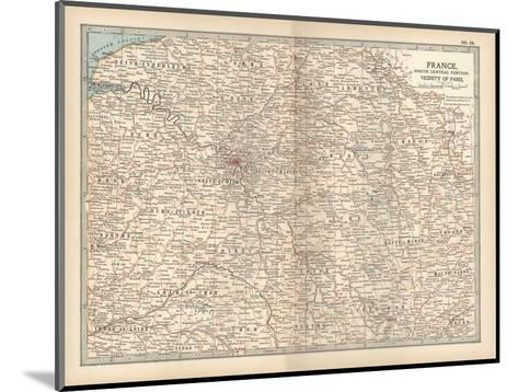 Plate 19. Map of France-Encyclopaedia Britannica-Mounted Giclee Print