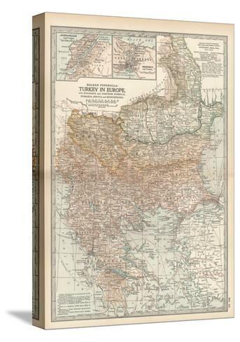 Plate 35. Map of Turkey in Europe-Encyclopaedia Britannica-Stretched Canvas Print