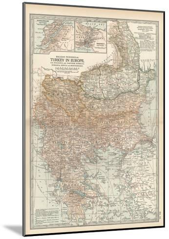 Plate 35. Map of Turkey in Europe-Encyclopaedia Britannica-Mounted Giclee Print