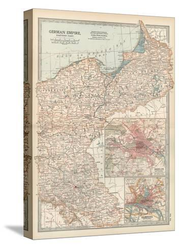 Plate 24. Map of the German Empire-Encyclopaedia Britannica-Stretched Canvas Print