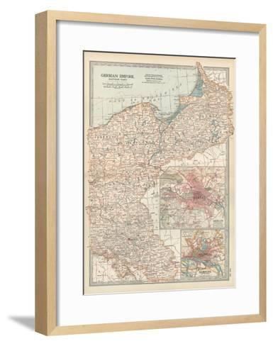 Plate 24. Map of the German Empire-Encyclopaedia Britannica-Framed Art Print