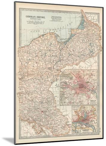 Plate 24. Map of the German Empire-Encyclopaedia Britannica-Mounted Giclee Print