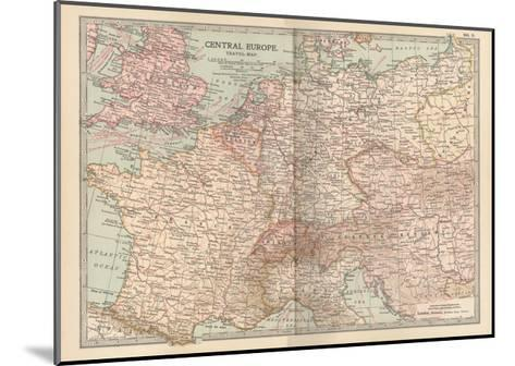 Plate 3. Travel Map of Central Europe-Encyclopaedia Britannica-Mounted Giclee Print