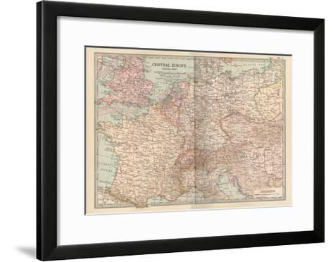 Plate 3. Travel Map of Central Europe-Encyclopaedia Britannica-Framed Art Print