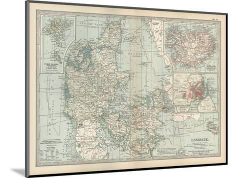 Plate 25. Map of Denmark. Insets of Iceland-Encyclopaedia Britannica-Mounted Giclee Print