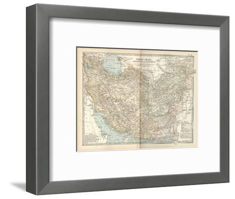 Map of Persia (Iran), Afghanistan and Baluchistan-Encyclopaedia Britannica-Framed Art Print