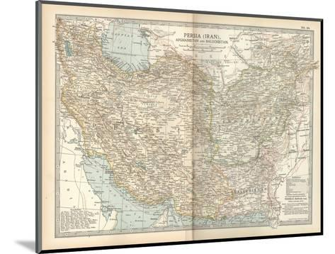 Map of Persia (Iran), Afghanistan and Baluchistan-Encyclopaedia Britannica-Mounted Giclee Print