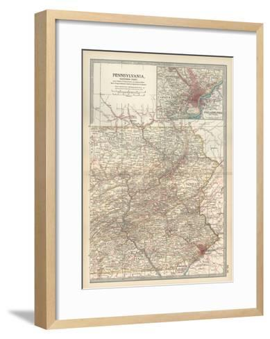 Map of Pennsylvania, Eastern Part. United States. Inset Map of Philadelphia and Vicinity-Encyclopaedia Britannica-Framed Art Print