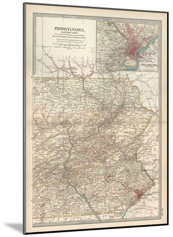 Map of Pennsylvania, Eastern Part. United States. Inset Map of Philadelphia and Vicinity-Encyclopaedia Britannica-Mounted Giclee Print