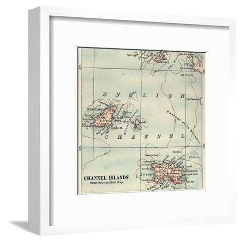 Inset Map of the Channel Islands. Guernsey; Jersey; United Kingdom-Encyclopaedia Britannica-Framed Art Print