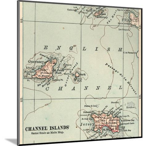 Inset Map of the Channel Islands. Guernsey; Jersey; United Kingdom-Encyclopaedia Britannica-Mounted Giclee Print