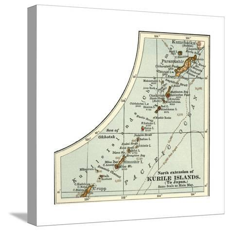 Inset Map of the North Extension of Kurile Islands; Japan-Encyclopaedia Britannica-Stretched Canvas Print