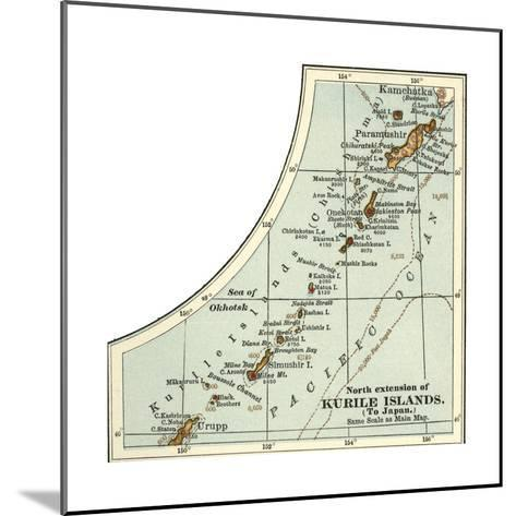 Inset Map of the North Extension of Kurile Islands; Japan-Encyclopaedia Britannica-Mounted Giclee Print