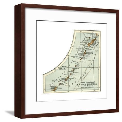 Inset Map of the North Extension of Kurile Islands; Japan-Encyclopaedia Britannica-Framed Art Print