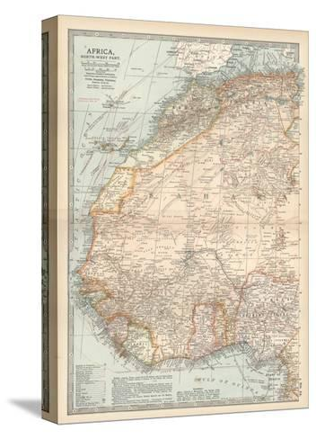 Plate 54. Map of Africa-Encyclopaedia Britannica-Stretched Canvas Print