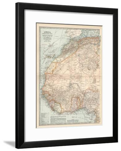 Plate 54. Map of Africa-Encyclopaedia Britannica-Framed Art Print