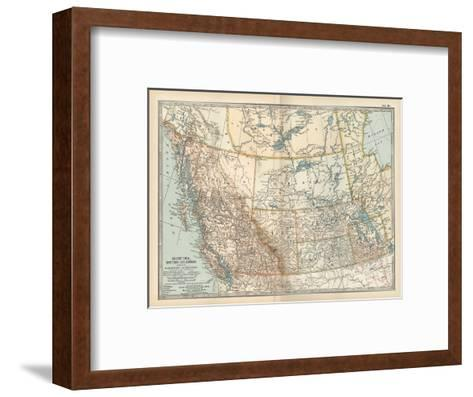 Plate 60. Map of Canada-Encyclopaedia Britannica-Framed Art Print