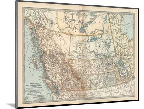Plate 60. Map of Canada-Encyclopaedia Britannica-Mounted Giclee Print