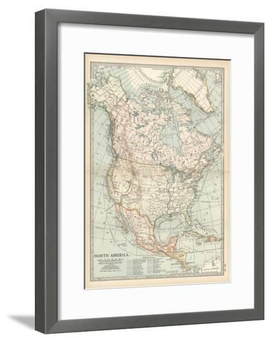 Plate 58. Map of North America. Alaska-Encyclopaedia Britannica-Framed Art Print