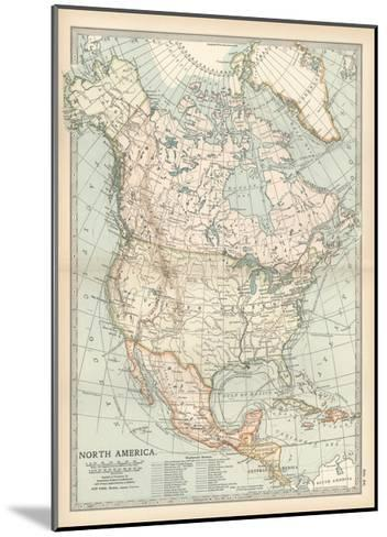 Plate 58. Map of North America. Alaska-Encyclopaedia Britannica-Mounted Giclee Print