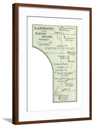 Inset Map of Ladrone or Mariana Islands (German). South Pacific. Oceania-Encyclopaedia Britannica-Framed Art Print