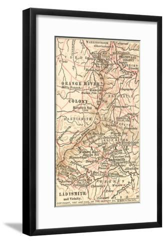 Inset Map of Ladysmith and Vicinity. South Africa-Encyclopaedia Britannica-Framed Art Print