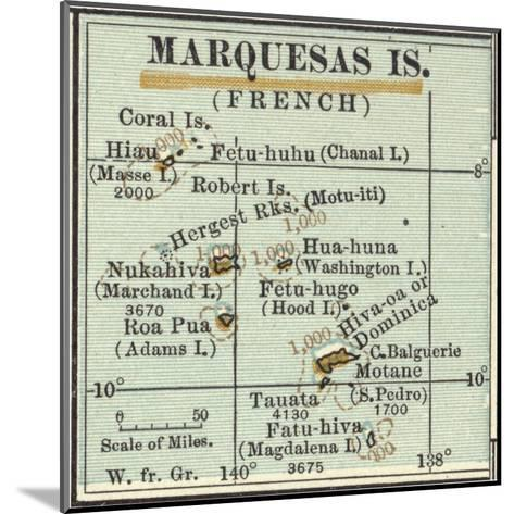 Inset Map of Marquesas Islands (French). Oceania. South Pacific-Encyclopaedia Britannica-Mounted Giclee Print