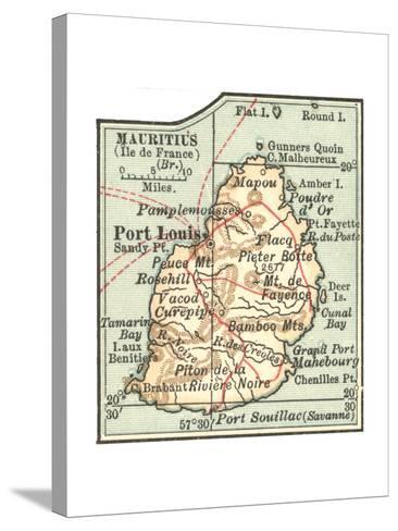 Inset Map of Mauritius (Ile De France) (British)-Encyclopaedia Britannica-Stretched Canvas Print