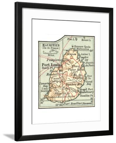 Inset Map of Mauritius (Ile De France) (British)-Encyclopaedia Britannica-Framed Art Print