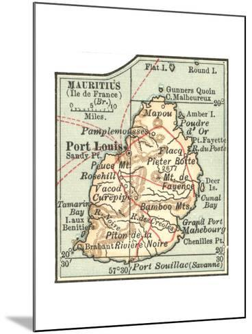 Inset Map of Mauritius (Ile De France) (British)-Encyclopaedia Britannica-Mounted Giclee Print