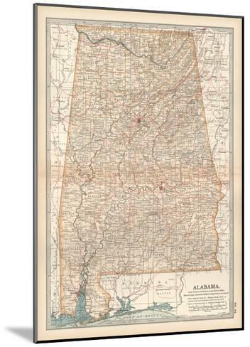 Plate 84. Map of Alabama. United States-Encyclopaedia Britannica-Mounted Giclee Print