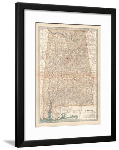 Plate 84. Map of Alabama. United States-Encyclopaedia Britannica-Framed Art Print