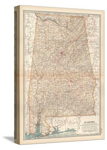 Plate 84. Map of Alabama. United States-Encyclopaedia Britannica-Stretched Canvas Print