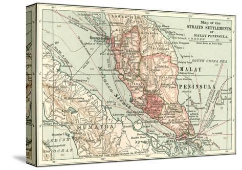 Inset Map of the Straits Settlements of Malay Peninsula; Part of Sumatra. Singapore-Encyclopaedia Britannica-Stretched Canvas Print