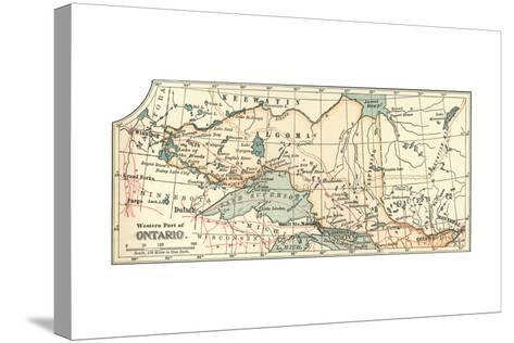Inset Map of the Western Part of Ontario, Canada-Encyclopaedia Britannica-Stretched Canvas Print