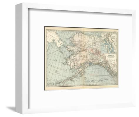 Map of Alaska. United States. Inset Maps of Sitka, and Aleutian Islands-Encyclopaedia Britannica-Framed Art Print