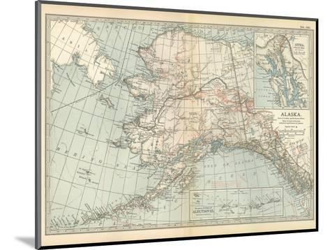 Map of Alaska. United States. Inset Maps of Sitka, and Aleutian Islands-Encyclopaedia Britannica-Mounted Giclee Print