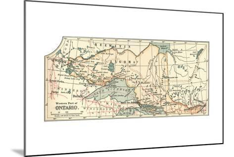 Inset Map of the Western Part of Ontario, Canada-Encyclopaedia Britannica-Mounted Giclee Print