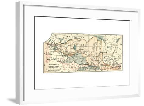 Inset Map of the Western Part of Ontario, Canada-Encyclopaedia Britannica-Framed Art Print